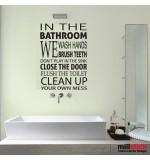 Sticker pentru baie bathroom rules WBF050