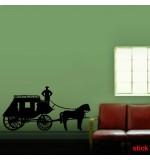 autocolant decorativ de perete trasura cu cal