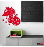 Wall sticker decorativ vasc si globuri