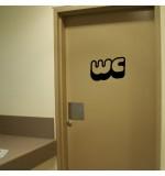 sticker de perete wc