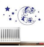 Sticker luna si stele WCF037