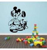 Sticker Mickey Mouse and Goofy WCWD26