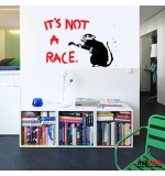 Wall sticker rat Banksy WLBS02