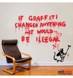 Wall sticker graffiti Banksy WLBS08