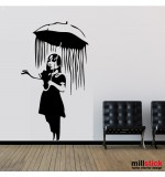 Sticker perete let it rain WLBS12