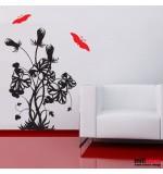 Sticker fluture cu floare WLF138