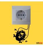 Sticker intrerupator / priza monstru WLI015