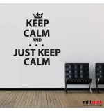 Wall sticker keep calm WLKC10