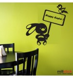 Wall sticker iepuras paste fericit WLP003