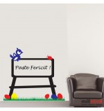 Wall sticker iepuras si oua WLP004