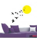 Sticker sunset with birds WLP105