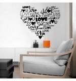 autocolant de perete love