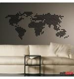 Sticker harta lumii din patratele WLL133