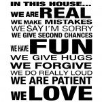 Sticker in this house we are real WLT237