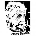 Sticker Albert Einstein WLCB03