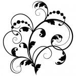 Sticker decorativ abstract WLA007