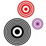 Sticker retro cercuri WLR028