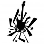 Sticker chitara WLM015