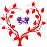 Sticker copac cu fluturas WLC205