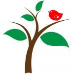 Sticker copac cu pasare WLC212