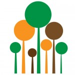 Sticker copaci rotunzi WLC306