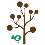 Sticker copac cu pasarica WLC307