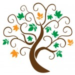 Sticker copac cu frunze colorate WLC313