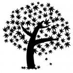 Sticker copac cu frunze cazatoare WLC324