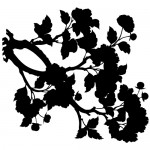 Stickere creanga cu flori WLCR28