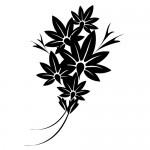 Stickere pereti flori WLF109