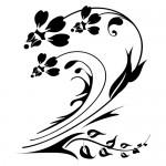 Sticker decorativ  floare WLF110
