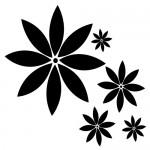 Stickere pereti  floricele WLF114