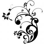 Sticker floare abstracta WLF302