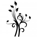 Sticker  floare abstracta WLF404