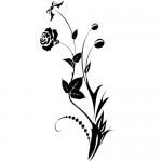 Sticker floare WLF406