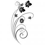 Sticker decorativ floare WLF407