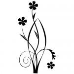 Sticker perete floare WLF411