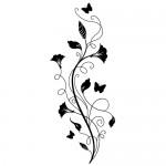 Autocolant de perete floare WLF413