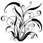Sticker floare abstracta WLF506