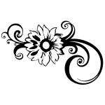 Autocolant floare WLF515