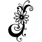 Sticker perete floare WLF516