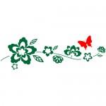 Sticker floare cu fluture WLF522