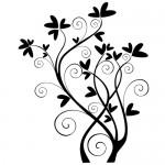 Sticker de perete floare WLF524