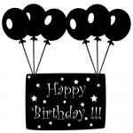 Sticker happy birthday WLES04