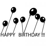 Sticker happy birthday WLES05
