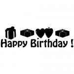 Sticker happy birthday WLES06