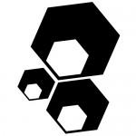 Sticker 3 hexagoane WLR013