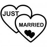 Sticker just married WLES08
