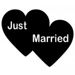 Sticker just married WLES09