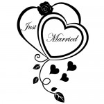 Sticker just married WLES13
